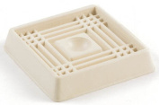 Shepherd 7.6cm . Almond Smooth Rubber Square Caster Cups 9168