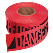 Empire Level 272-76-0604 Reinforced Danger-Peligobarr Tape-Rd W-Blk Prnt