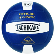 Tachikara SV5WSC.NYW Sensi-Tec Composite High Performance Volleyball - Navy-White