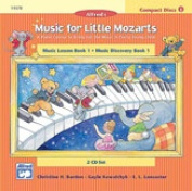 Alfred 00-14578 Music for Little Mozarts- CD 2-Disc Sets for Lesson and Discovery Books- Level 1 - Music Book