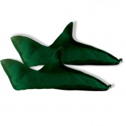 Green Felt Elf Shoes Adult Halloween Accessory