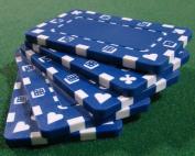 Brybelly Holdings PCB-2102 5 Blue Rectangular Poker Chips