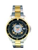 Del Mar 50499 Mens Coast Guard Military Watches Two Tone
