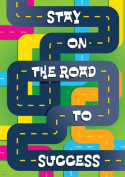 Trend Enterprises Inc. T-A67385 Stay On The Road To Success Poster