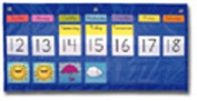 CARSON DELLOSA CD-5636 POCKET CHART WEEKLY CALEND. WEATHER-25 X 13 + 56 WEATHER CARDS