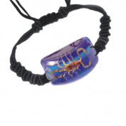 Ed Speldy East SL152 Real Bug Bracelet-Scorpion-Rectangle Shape-Clear Blue-