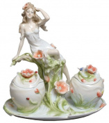 Unicorn Studios AP20135YA Maiden and Poppy Flower Porcelain Bowl