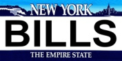 LP-2051 New York State Background Licence Plates- Bills