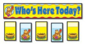 CARSON DELLOSA CD-158006 ATTENDANCE REPLACEMENT CARDS POCKET CHARTS - POCKET CHART G