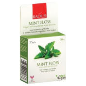 Radius 1152321 Mint Floss with Natural Xylitol 55 yds - 50 m - Case of 6 - 55 Yd