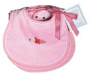 Dee Givens & Co-Raindrops 26359 Solid Pastel Teething Bib Sets - Pink