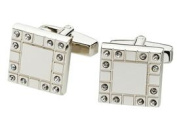 Visol VCUFF603 Opulence Stainless Steel Square Frame Cufflinks
