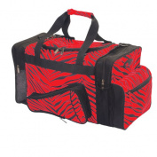 Pizzazz Performance Wear B500AP -RED -L B500AP Zebra Megaphone Duffle Bag - Red - Large