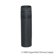 Chimney 77515 8 in. x 24 in. DSP Double-Wall Black Stovepipe
