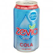 Zevia 35587 4 x 6/350ml Natural Cola Diet Soda