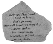 Kay Berry- Inc. 15520 Beloved Husband Those We Love - Memorial - 6.875 Inches x 5.5 Inches