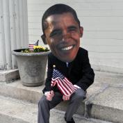 Morbid Barack Obama Big Head Mask Adult One-Size