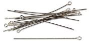 Cousin 479886 Jewellery Basics Metal Findings 100-Pkg-Silver Eye Pins