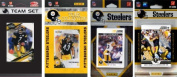 C & I Collectables STEELERS412TS NFL Pittsburgh Steelers 4 Different Licenced Trading Card Team Sets