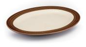 Paula Deen Signature Dinnerware Southern Gathering 25cm by 36cm Oval Platter, Chestnut