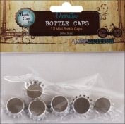 Vintage Collection Mini Bottle Caps, 13cm , Chrome