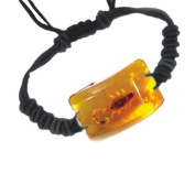 Ed Speldy East SL151 Real Bug Bracelet-Scorpion-Rectangle Shape-Amber