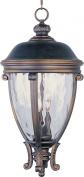 Maxim Lighting 41429WGGO Camden VX 3-Light Outdoor Hanging Lantern - Golden Bronze