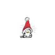 Penny Black 459888 Penny Black Rubber Stamp 8.9cm . x 11cm . -Jolly Xmas Kitty