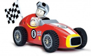 Le Toy Van Wooden Red Racer and Budkin Figure