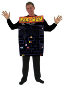 InCogneato 211890 Pac-Man Video Game Screen Poncho Adult Costume - Black - One-Size