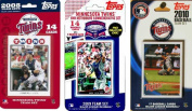 C & I Collectables TWINS3TS MLB Minnesota Twins 3 Different Licenced Trading Card Team Sets