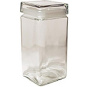 Square Glass Jar with Glass Lid 1890ml 217663