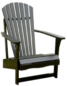 International Concepts Outdoor Adirondack Chair, Black
