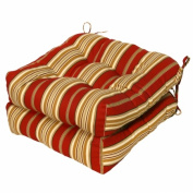 Greendale Home Fashions OC6800S2-ROMASTRIPE Set of Two 20 in. Outdoor Chair Cushions Roma Stripe