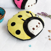 Blancho Bedding TB-CB005-YELLOW-39.4by59.1 Sirotan - Ladybug Yellow Blanket Pillow Cushion / Travel Pillow Blanket