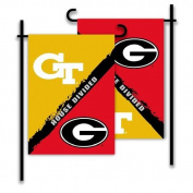 BSI PRODUCTS 83749 2-Sided Garden Flag - Rivalry House Divided - Georgia - Ga. Tech