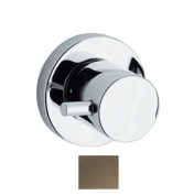 Whitehaus Collection WHUS40078-BN 2.62 in. Luxe round volume control with short lever handle- Brushed Nickel-PVD