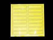 Bright Ideas RS1L Reflective Stickers Lime