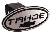 DefenderWorx 32015 Chevy - Tahoe - Black w - Black Bowtie - Oval - 5.1cm Billet Hitch Cover
