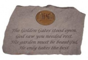 The Golden Gates Stood Open Memorial Stone With Personalised Insert