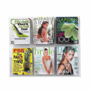 Safco 5667CL Clear2c Display 6 Magazine - Clear