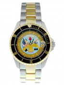 Del Mar 50447 Mens Army Military Watches Two Tone