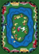 Joy Carpets 1475B Puddleducks 3 ft.10 in. x 5 ft.4 in. 100 Pct. STAINMASTER Nylon Machine Tufted- Cut Pile Educational Rug