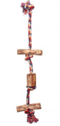 Parrotopia CRS Climbing Rope with wood Small .5 x 16 Inch