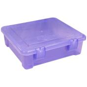 "Creative Options File Tub-43cm x 38cm X5"" Purple Transparent"