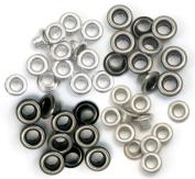 We R Memory Keepers 459272 Eyelets Standard 60-Pkg-Cool Metal