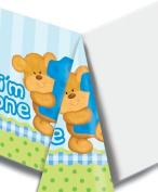 Creative Converting - Bear's 1st Birthday Boy Plastic Tablecover