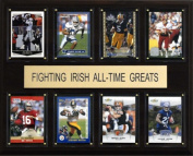 C & I Collectables 1215ATGIRISH NCAA Football Notre Dame Fighting Irish All-Time Greats Plaque
