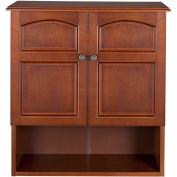 Elegant Home Fashions ELG-501 Martha Wall Cabinet with 2 Doors - Mahogany
