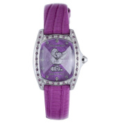 Hello Kitty CT. 7094SS-38 Stainless Steel Purple Leather Watch